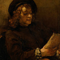 Titus Van Rijn, The Artist's Son, Reading by Rembrandt