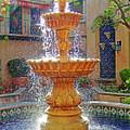 Tlaquepaque Fountain In Sunlight by Robert Meyers-Lussier