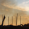 Tobacco Barn Fire IIi Silhouette by Angela Comperry