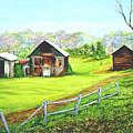 Tobacco Barns North Carolina by Pauline Ross
