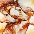 Tobiano Horse Trio by Marcia Baldwin