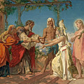 Tobias Brings His Bride Sarah To The House Of His Father Tobit by Henri Lehmann