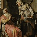 Tobit And Anna With The Kid by Rembrandt Harmensz van Rijn