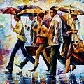 Today I Forgot My Umbrella... by Leonid Afremov