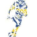 Todd Gurley Los Angeles Rams Pixel Art 30 by Joe Hamilton