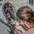 Toddler In Stroller 10512ct by Doug Berry
