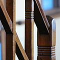 Toffee Brown Wooden Stair Rail On Queen Mary by Colleen Cornelius
