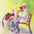 Together Old In La Herradura In Spain by Miki De Goodaboom