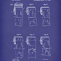 Toilet Paper Patent Art Blue by Prior Art Design