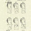 Toilet Paper Patent Art Parchment by Prior Art Design