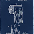 Toilet Paper Roll Patent 1891 Blue by Bill Cannon