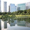 Tokyo Skyline Reflection by Carol Groenen