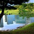 Tokyo Skyscrapers Reflection by Carol Groenen