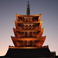 Tokyo Temple Lights by Carol Groenen