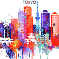 Tokyo Watercolor by Dim Dom