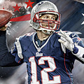 Tom Brady New England Patriots by Nicholas Legault