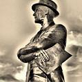 Tom Landry Sepia by Ione Starr