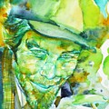 Tom Waits - Watercolor Portrait.5 by Fabrizio Cassetta
