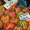 Tomatoes At Market by Joan Carroll