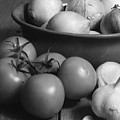 Tomatos Onion And Garlic by Henry Krauzyk