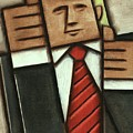 Tommervik Abstract Donald Trump Thumbs Up Painting by Tommervik