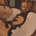 Abstract Mother And Baby Art Print by Tommervik