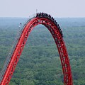 Top Of Intimidator 305 Rollercoaster by Ben Schumin