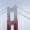 Top Of The Golden Gate Bridge In The Fog by Teri Virbickis