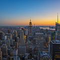 Top Of The Rock At Sunset by Michael Ver Sprill