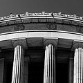 Top Portion Of A Lincoln Memorial Old Greek Architecture by Alex Grichenko