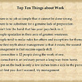 Top Ten Things About Work by Charles Robinson