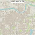 Topeka Kansas Us City Street Map by Frank Ramspott