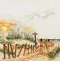 Topless Beach by Miroslaw  Chelchowski