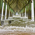 Topsail Island Pier by Betsy Knapp