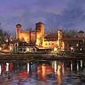 Torino-il Borgo Medioevale Di Notte by Guido Borelli