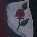 Torn Canvas Rose by David Bigelow