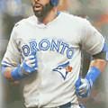 Toronto Blue Jays Jose Bautista by Joe Hamilton