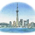 Toronto Canada City Skyline by Irina Sztukowski