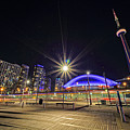 Toronto Harbourfront Street Car Light Trails by Charline Xia
