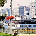 Toronto Island Ferry Arrives by Ian  MacDonald