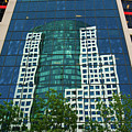 Toronto Metro Hall Reflected In The Cbc Building by Reimar Gaertner