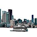 Toronto Portlands Skyline With Island Ferry by Nina Silver