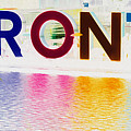 Toronto Sign In Muted Colours by Nina Silver