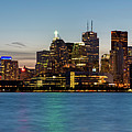 Toronto Skyline At Dusk Panoramic by Adam Romanowicz