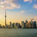 Toronto Skyline At Sunset by Daniela Constantinescu