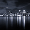 Toronto Skyline Monochrome by Matt  Trimble