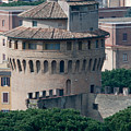 Torre San Giovanni St Johns Tower On The Ramparts Of The Walls Of The Vatican City Rome by Andy Smy
