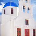 Tou Stavrou Church Santorini by Adam Rainoff