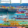 Tour Boats In Port Of Valparaiso-chile by Ruth Hager