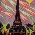 Tour Eiffel Et Ovni by Robert SORENSEN